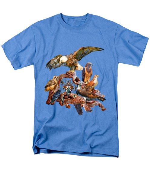 Dream Catcher - Spirit Birds Men's T-Shirt  (Regular Fit) by Carol Cavalaris