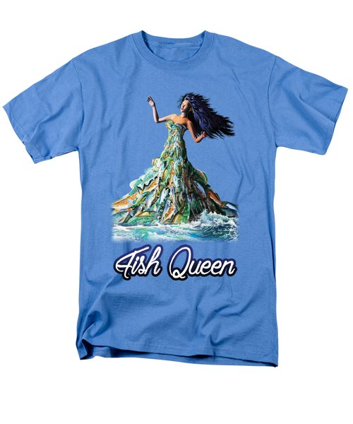 Fish Queen Men's T-Shirt  (Regular Fit) by Anthony Mwangi
