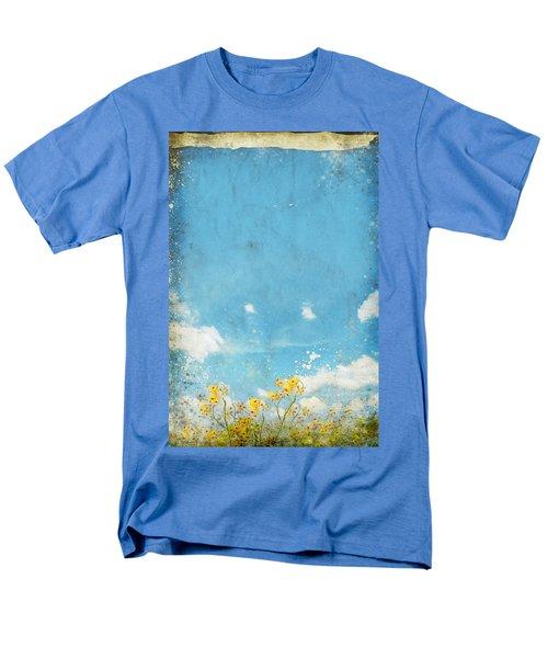 floral in blue sky and cloud T-Shirt by Setsiri Silapasuwanchai