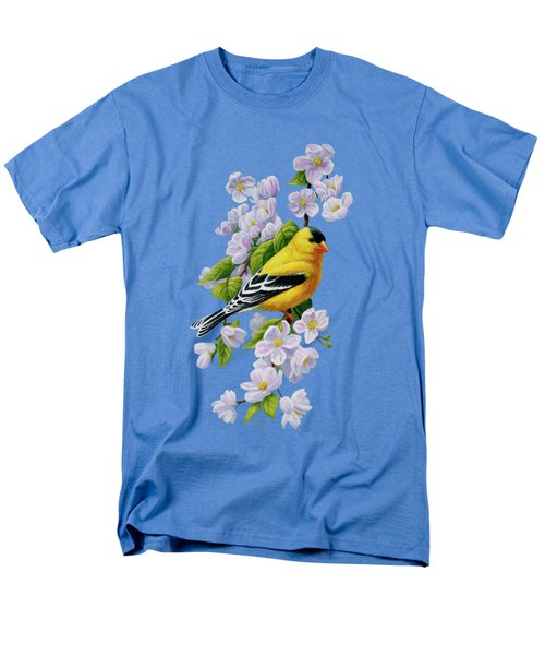 Goldfinch Blossoms Greeting Card 1 Men's T-Shirt  (Regular Fit) by Crista Forest