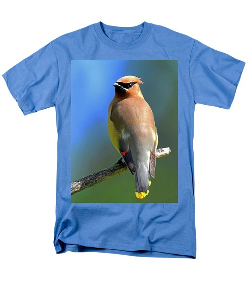 Men's T-Shirt  (Regular Fit) featuring the photograph Gorgeous Cedar Waxwing by Rodney Campbell