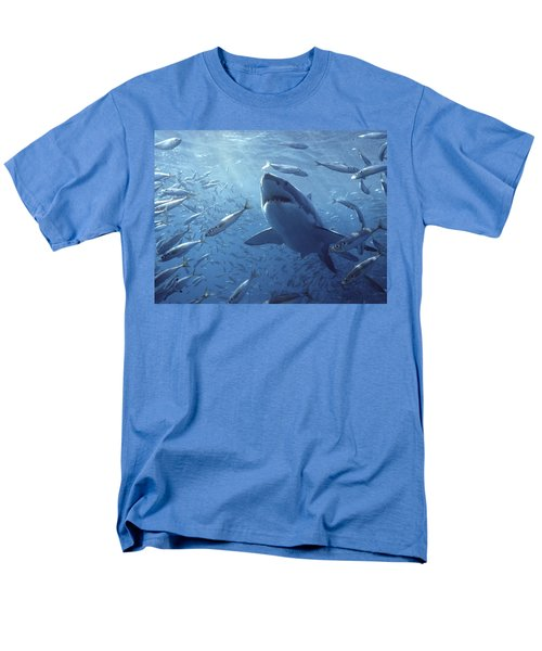 Great White Shark Carcharodon Men's T-Shirt  (Regular Fit) by Mike Parry