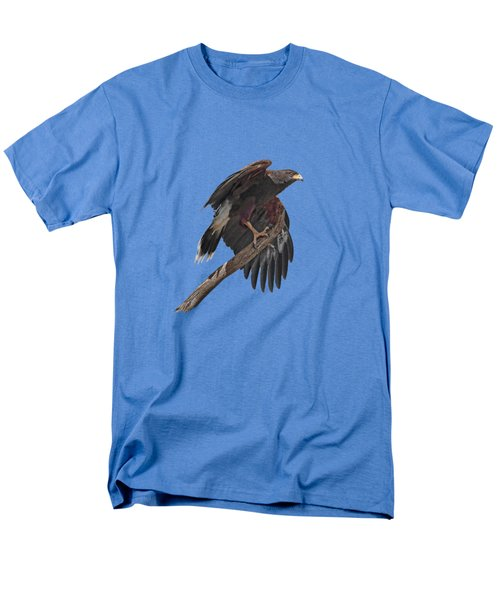 Harris Hawk - Transparent Men's T-Shirt  (Regular Fit) by Nikolyn McDonald