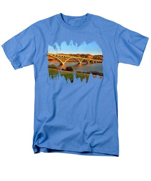 Historic Patterson Bridge Gold Beach Men's T-Shirt  (Regular Fit) by Thom Zehrfeld