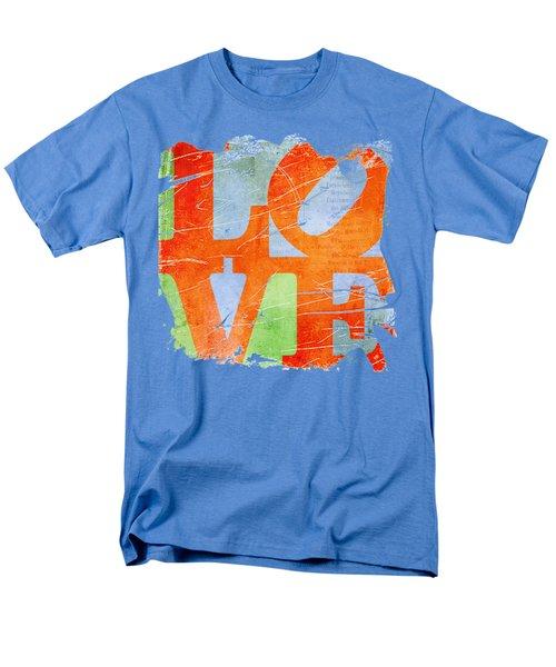 Iconic Love - Grunge Men's T-Shirt  (Regular Fit) by Paulette B Wright
