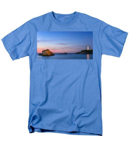 Men's T-Shirt  (Regular Fit) featuring the photograph Le Phare De Biarritz by Thierry Bouriat