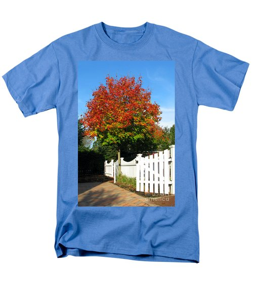 Maple and Picket Fence T-Shirt by Olivier Le Queinec