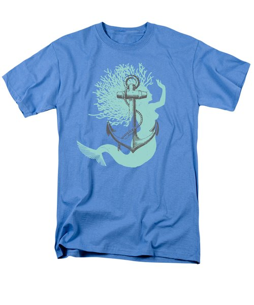 Mermaid And Anchor Men's T-Shirt  (Regular Fit) by Sandra McGinley