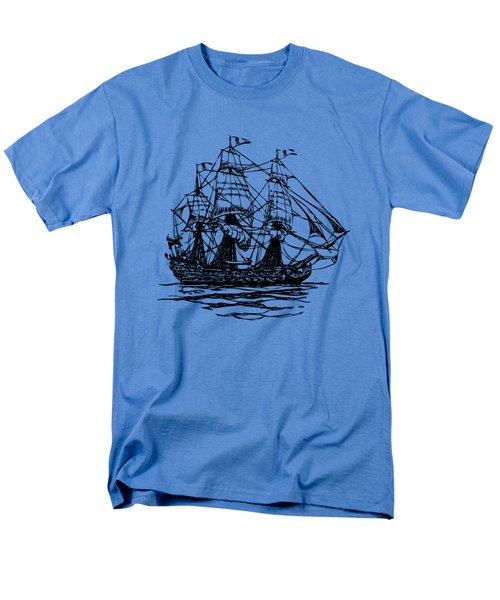 Pirate Ship Artwork - Vintage T-Shirt by Nikki Marie Smith