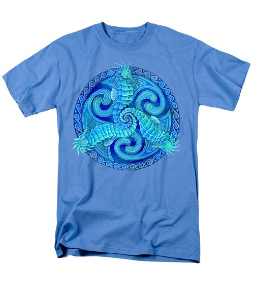 Seahorse Triskele Men's T-Shirt  (Regular Fit) by Rebecca Wang
