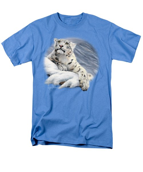 Snow Leopard Men's T-Shirt  (Regular Fit) by Lucie Bilodeau