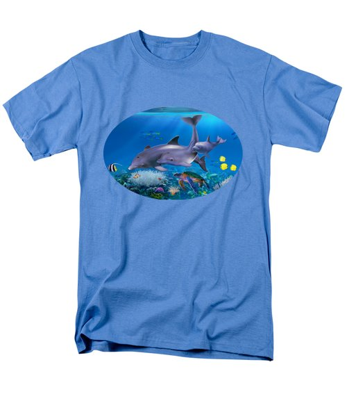 The Dolphin Family Men's T-Shirt  (Regular Fit) by Glenn Holbrook
