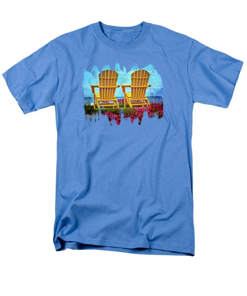 The Yellow Chairs By The Sea Men's T-Shirt  (Regular Fit) by Thom Zehrfeld