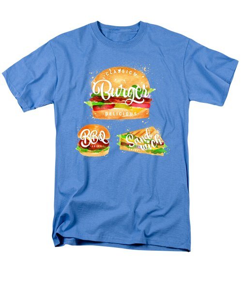 White Burger Men's T-Shirt  (Regular Fit) by Aloke Design