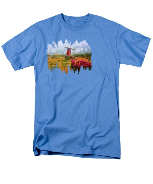 Windmill And Tulips Men's T-Shirt  (Regular Fit) by Thom Zehrfeld