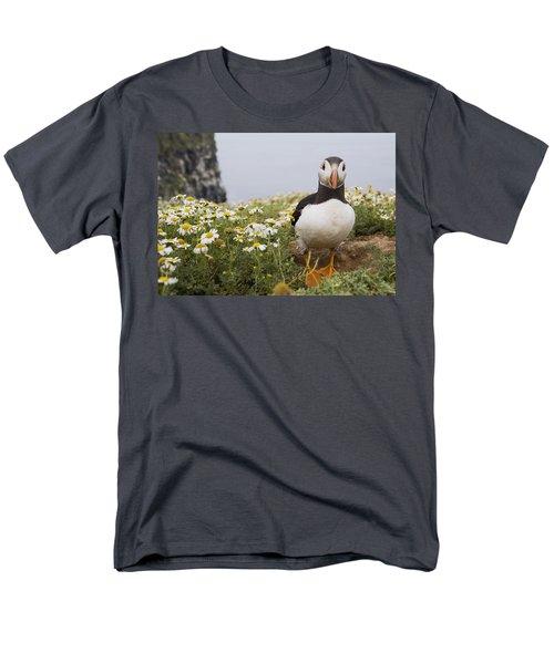 Atlantic Puffin In Breeding Plumage Men's T-Shirt  (Regular Fit) by Sebastian Kennerknecht