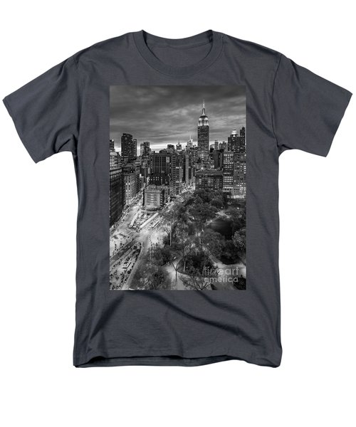Flatiron District Birds Eye View Men's T-Shirt  (Regular Fit) by Susan Candelario
