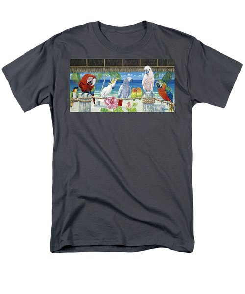 Parrots In Paradise Men's T-Shirt  (Regular Fit) by Danielle  Perry