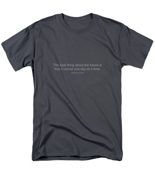 Abraham Lincoln Quote Men's T-Shirt  (Regular Fit) by Famous Quotes
