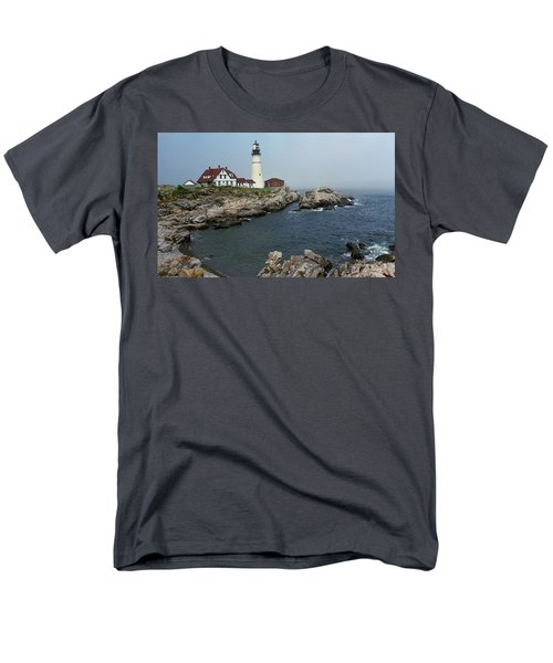 Lighthouse - Portland Head Maine T-Shirt by Frank Romeo