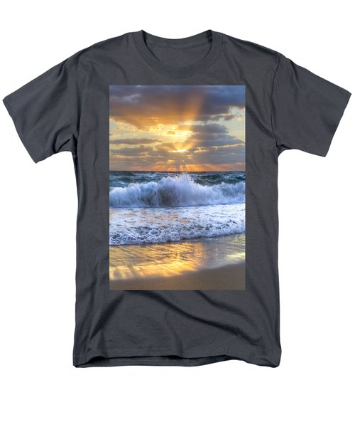 Splash Sunrise T-Shirt by Debra and Dave Vanderlaan