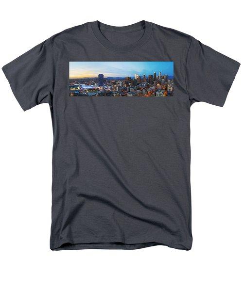 Los Angeles Skyline Men's T-Shirt  (Regular Fit) by Kelley King