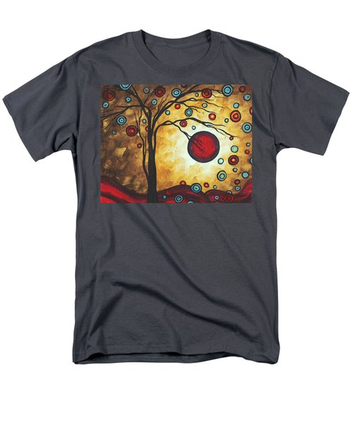 Abstract Art Original Metallic Gold Landscape Painting FREEDOM OF JOY by MADART T-Shirt by Megan Duncanson