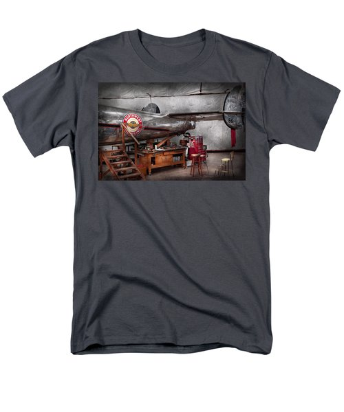 Airplane - The repair hanger  T-Shirt by Mike Savad