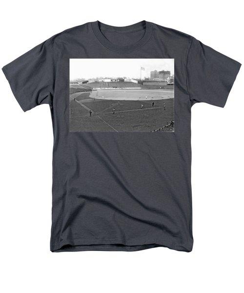 Baseball At Yankee Stadium Men's T-Shirt  (Regular Fit) by Underwood Archives