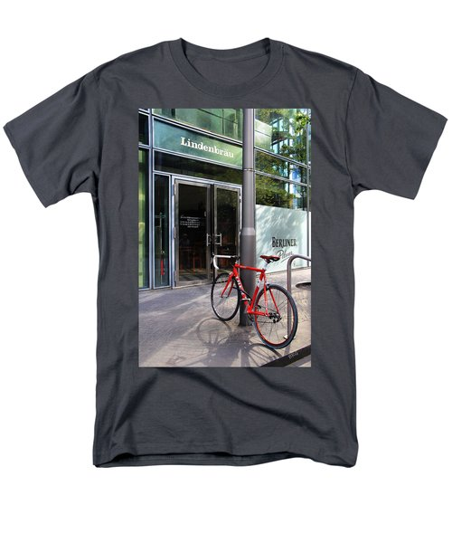 Berlin Street View With Red Bike T-Shirt by Ben and Raisa Gertsberg