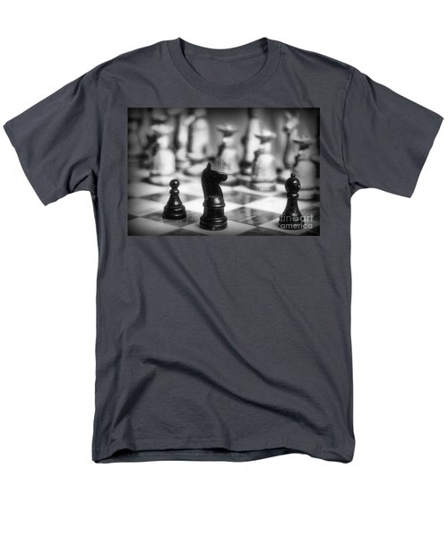 Chess Game in black and white T-Shirt by Paul Ward