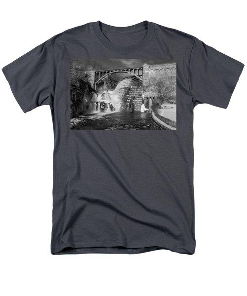 Croton Dam BW T-Shirt by Susan Candelario