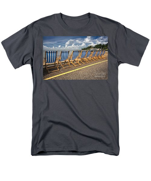 Deckchairs at Southend T-Shirt by Sheila Smart