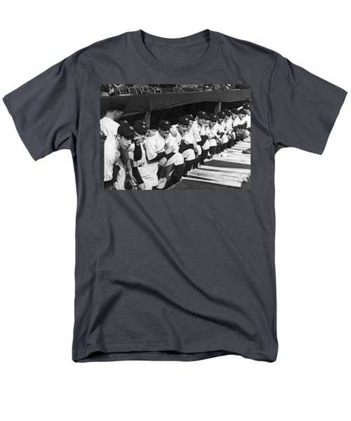 Dimaggio In Yankee Dugout Men's T-Shirt  (Regular Fit) by Underwood Archives