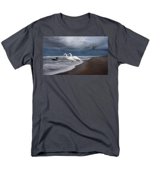 Dreaming of Egrets by the Sea II T-Shirt by Betsy C  Knapp