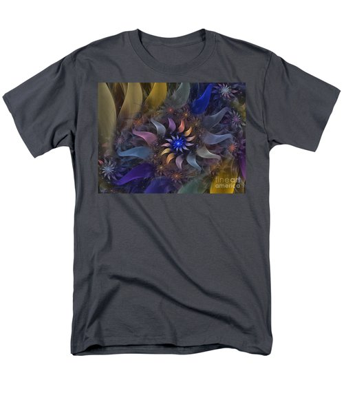 Flowery Fractal Composition With Stardust T-Shirt by Karin Kuhlmann