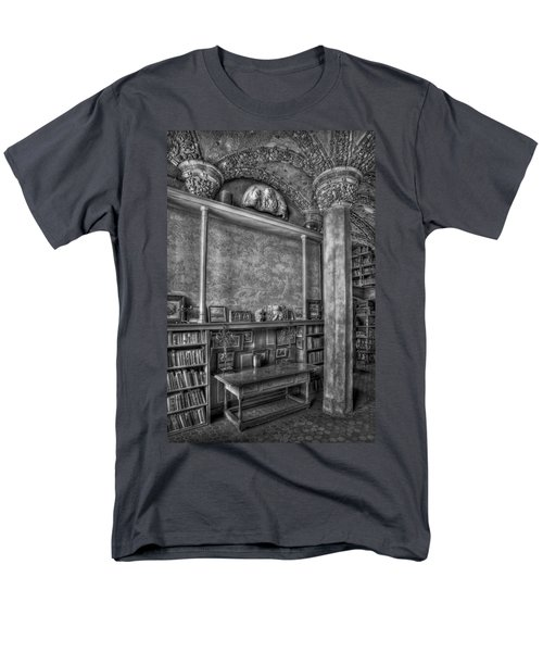 Fonthill Castle Library T-Shirt by Susan Candelario