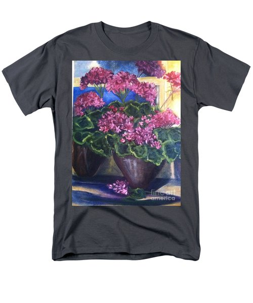 Geraniums Blooming T-Shirt by Sherry Harradence
