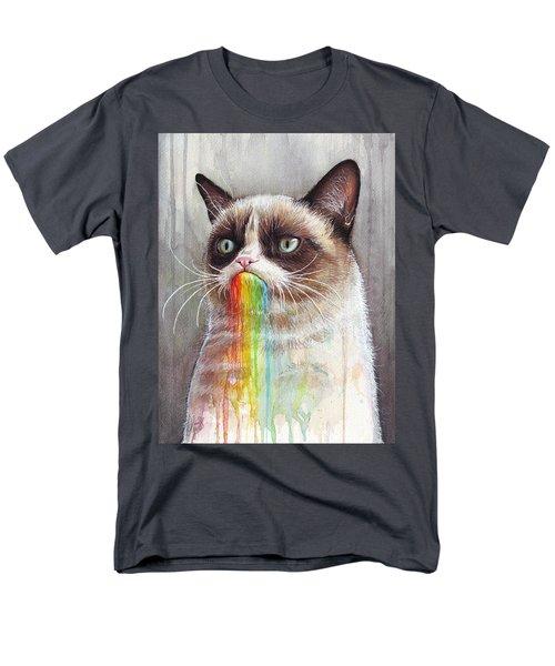 Grumpy Cat Tastes the Rainbow T-Shirt by Olga Shvartsur