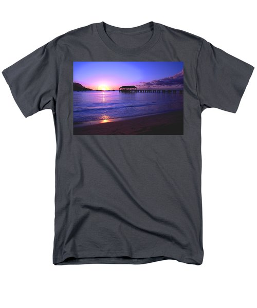 Hanalei Bay Pier Sunset T-Shirt by Brian Harig