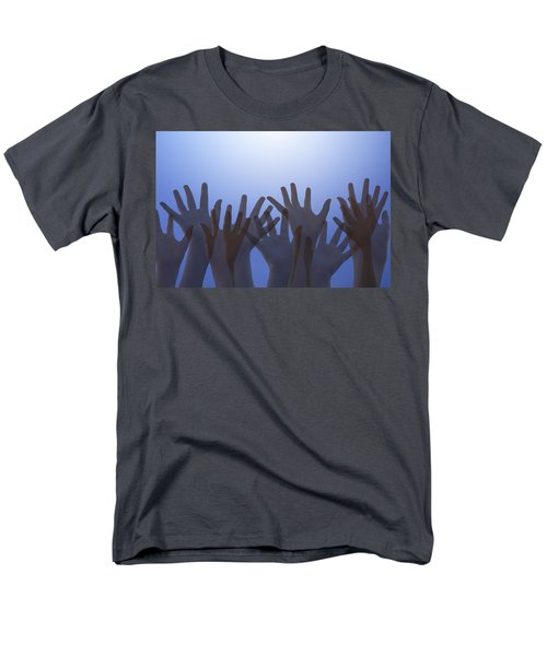 Hands Raised In Worship T-Shirt by Colette Scharf