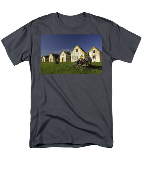 Icelandic Turf Houses T-Shirt by Claudio Bacinello