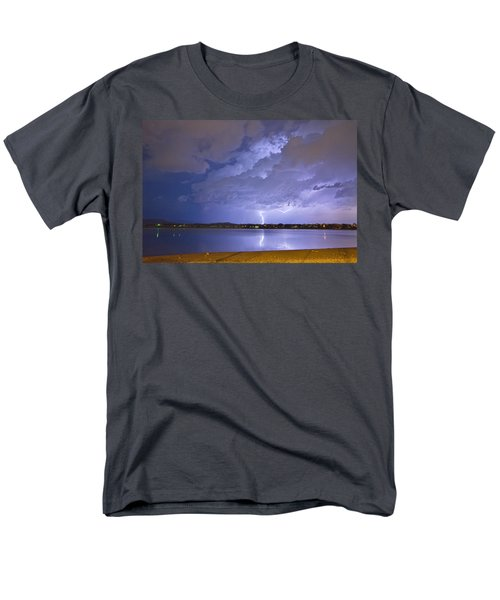 Lake View Lightning Thunderstorm T-Shirt by James BO  Insogna