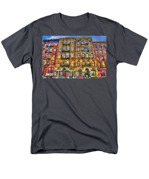 Led Zeppelin Physical Graffiti Building In Color Men's T-Shirt  (Regular Fit) by Randy Aveille