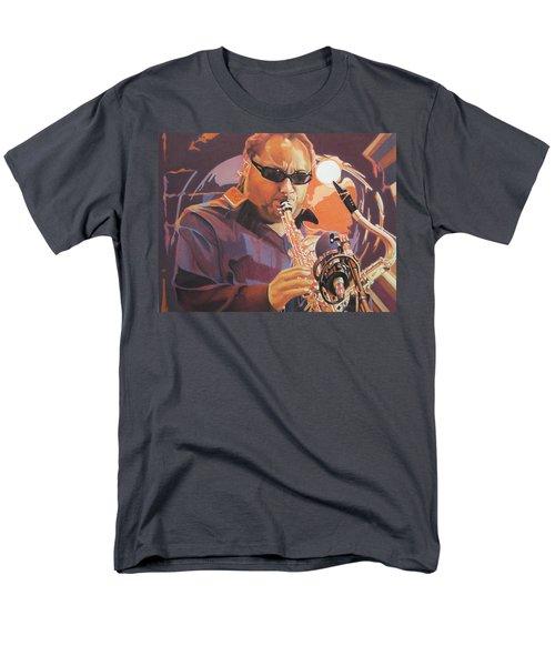 Leroi Moore purple and Orange T-Shirt by Joshua Morton