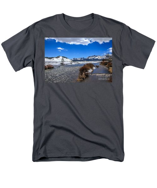 Looking Up The Salmon River T-Shirt by Robert Bales