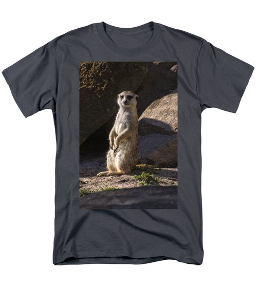 Meerkat Looking Forward Men's T-Shirt  (Regular Fit) by Chris Flees