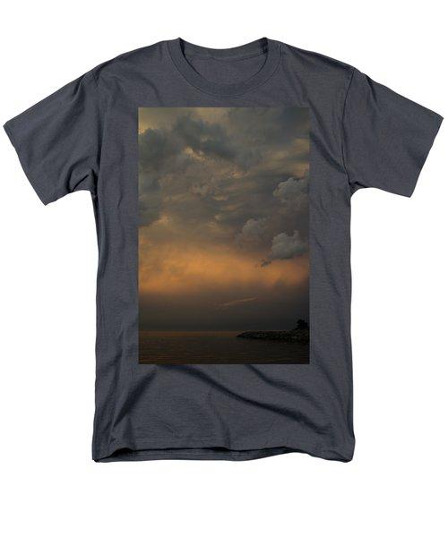 Moody Storm Sky Over Lake Ontario in Toronto T-Shirt by Georgia Mizuleva