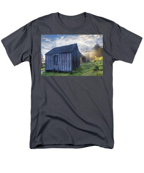Mt LeConte Cabins T-Shirt by Debra and Dave Vanderlaan