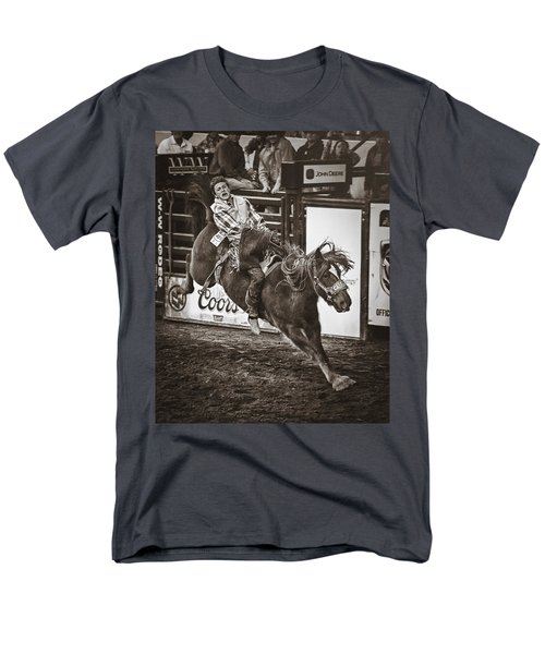 National Stock Show Bareback Riding T-Shirt by Priscilla Burgers